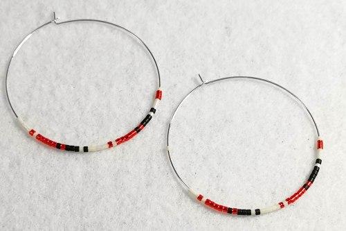 red delica earrings