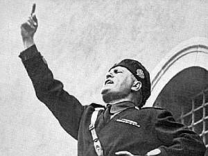Fascist dictator Mussolini