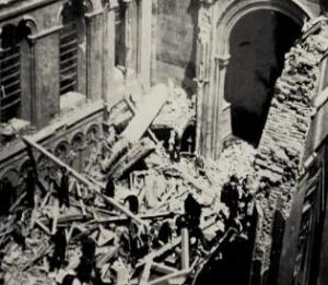 The devastation at the Guards Chapel, June 18, 1944