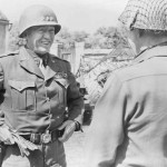 General Patton arriving in France to lead the U.S. 3rd Army