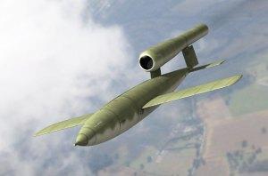 V-1 bomb in flight