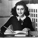 Anne Frank at her desk