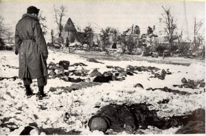 Scene at site of Malmedy massacre