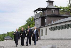 President Obama and Chancellor Merkel at Buchenwald in 2009