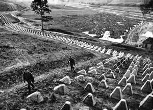 The Siegfried Line showing concrete barrier