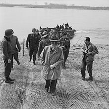 Churchill on the east side of the Rhine