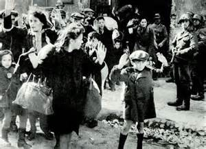 Women and children being rounded up in the Warsaw Ghetto