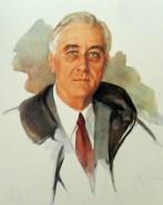 The unfinished portrait of Franklin Roosevelt.