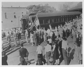 The FDR Funeral Train at Clemson station.