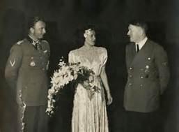Wedding of Fegelein and Gretl Braun with Hitler