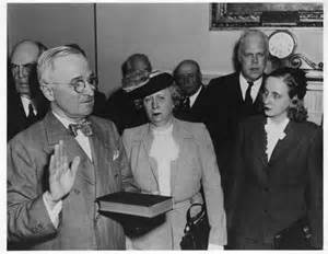 President Harry Truman swearing-in ceremony - April 12, 1945