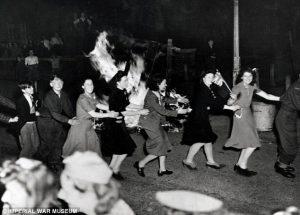 Dancing the Conga - London - May 7, 1945