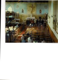 St Michael's Church on 6 March 1973 - the wedding day of Marie and Flan O Donoghue, Glencanane.