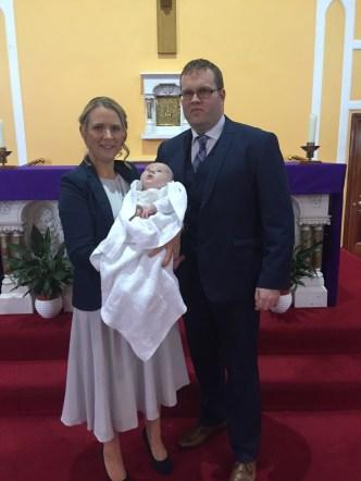 Diarmuid on his baptism day.