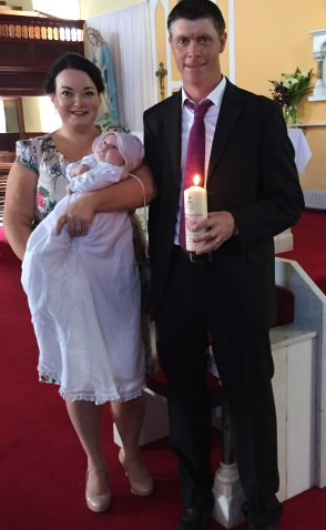 Gracie Abigail Garry on her baptism day. 28 May 2016