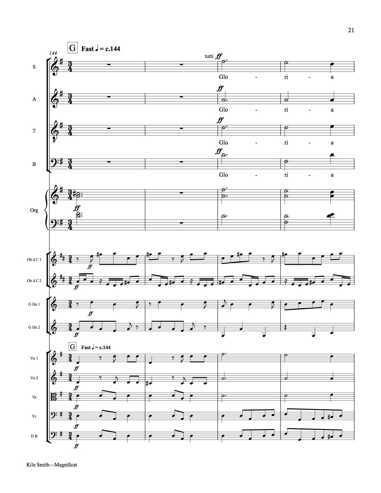 Vespers for a Bach orchestra | Kile Smith • composer