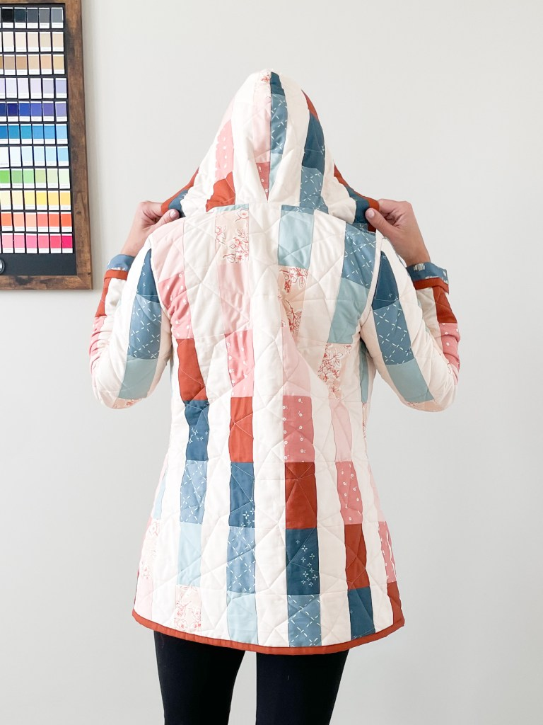 Back view of me in quilt coat
