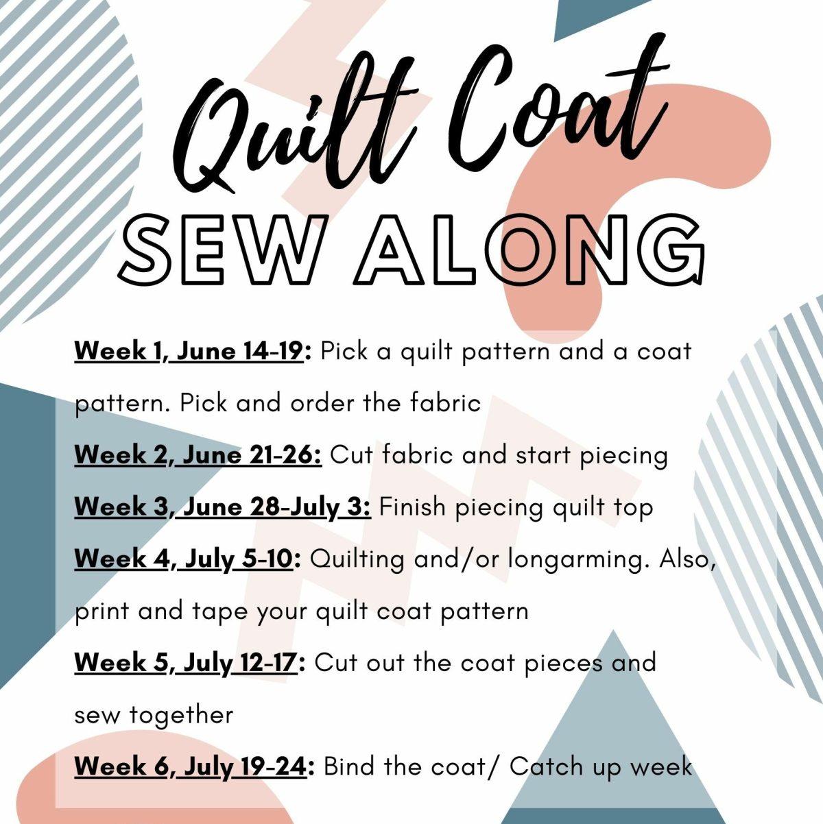 Quilt Coat SAL timeline