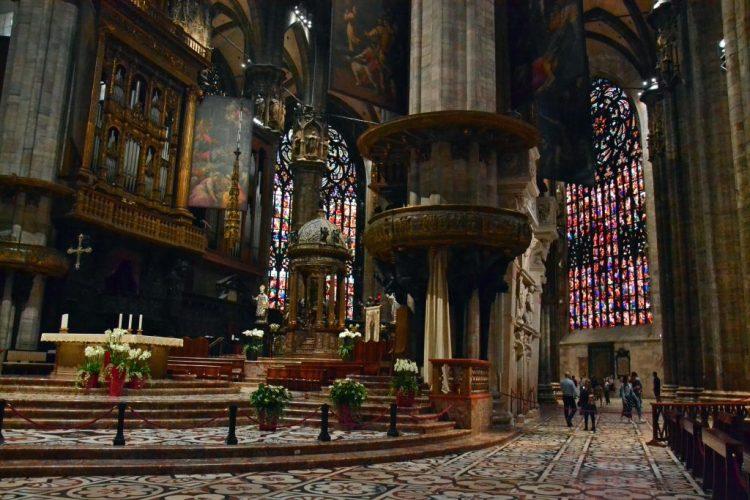 Il Presbiterio, progettato da Pellegrino Tibaldi, del Duomo di Milano