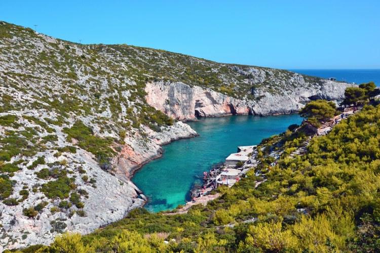 Undici spiagge imperdibili sull'isola di Zacinto: il fiordo di porto limnionas