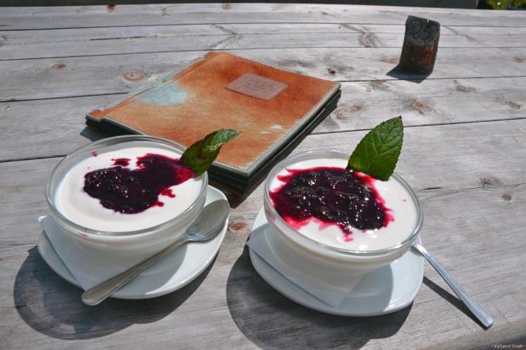 dodici motivi fotografici: yogurt e frutti di bosco