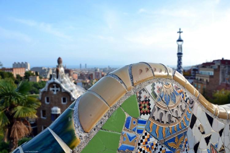 barcellona dall'alto: simmetrie e colori e panorama su barcellona