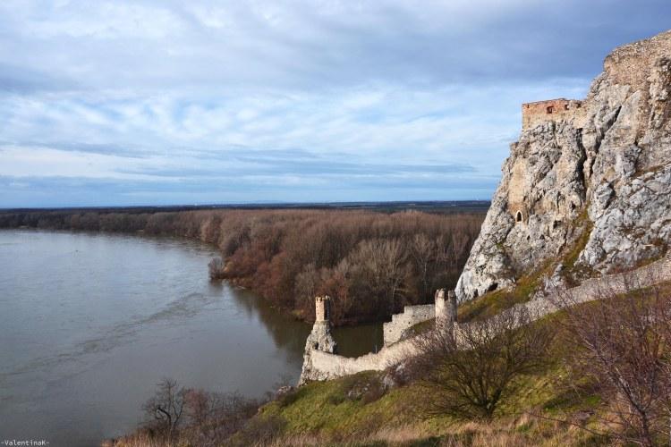castello di Devín bratislava: vista della torre sul Danubio