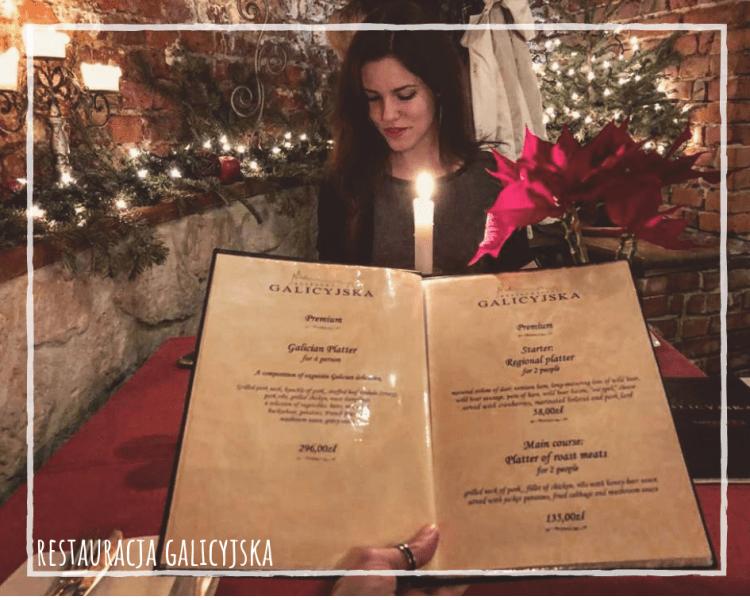 cracovia, appunti sparsi dal mio diario di viaggio: valentina in un bellissimo e buonissimo ristorantino