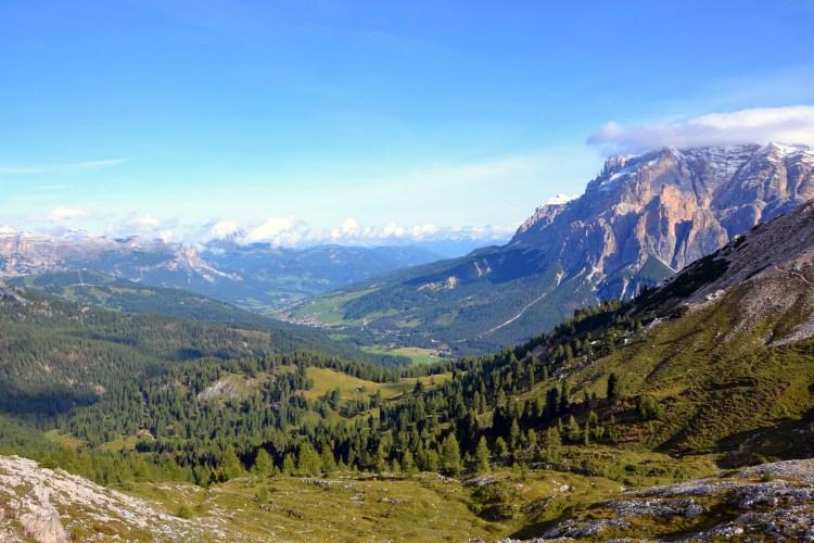 cima setsass con giro ad anello: il panorama settentrionale sulla Val Badia