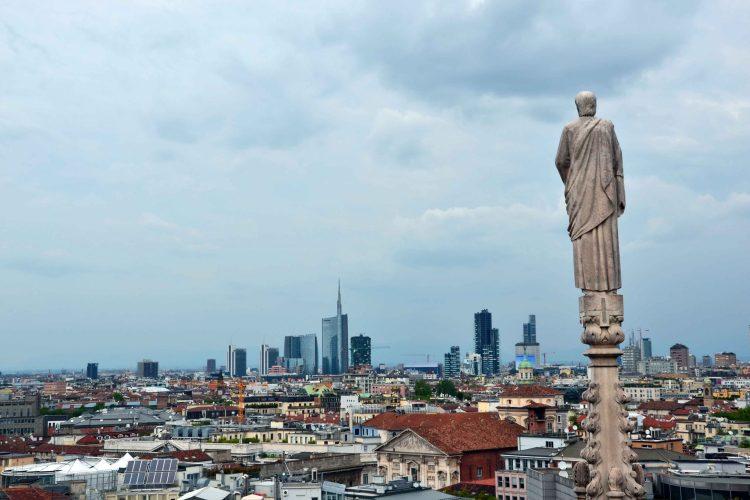 curiosità sul Duomo di Milano: il panorama dall'alto del duomo, il punto più alto di tutta la città