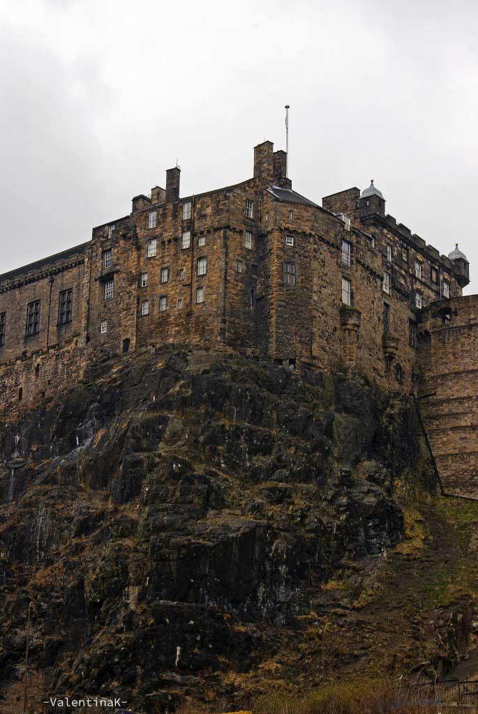 prospettiva sul castello di edimburgo