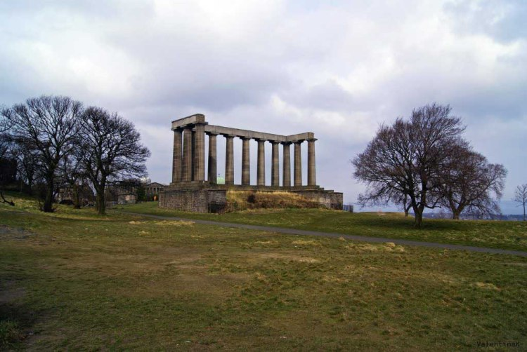 il national monument of scotland a Calton Hill a edimburgo città