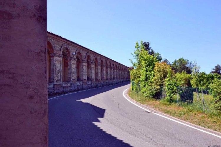 scorcio dei portici e della strada che porta su a san luca