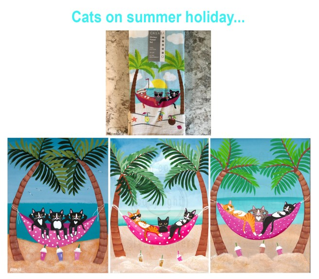 cats on summer holiday