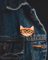Ginger Nerd Cat
