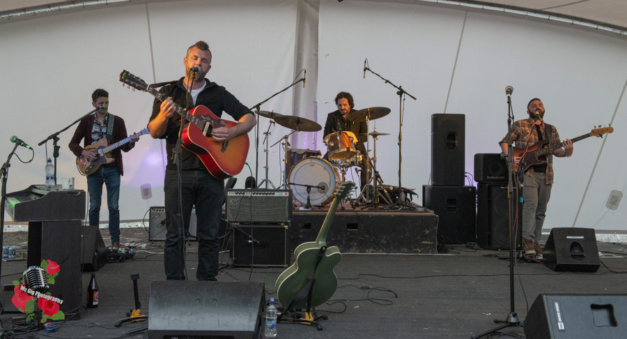 Mick Flannery (band) live at Ballykeeffe Amphitheatre