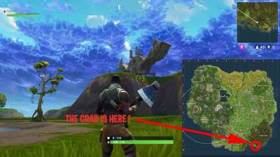 Fortnite Battle Royale where to find the llama, crab and ...