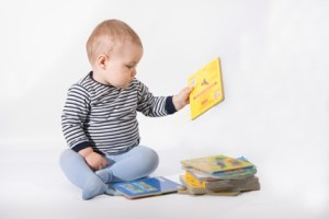 Baby and books