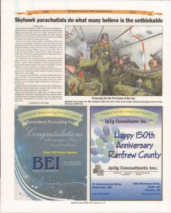 A Journey Through Time - Past, Present and Future. Published by The Eganville Leader, celebrating the 150th anniversary of Renfrew County. Page 13