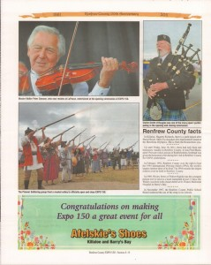 A Journey Through Time - Past, Present and Future. Published by The Eganville Leader, celebrating the 150th anniversary of Renfrew County. Page 16