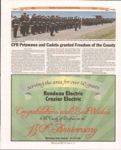A Journey Through Time - Past, Present and Future. Published by The Eganville Leader, celebrating the 150th anniversary of Renfrew County. Page 19