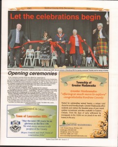 A Journey Through Time - Past, Present and Future. Published by The Eganville Leader, celebrating the 150th anniversary of Renfrew County. Page 8