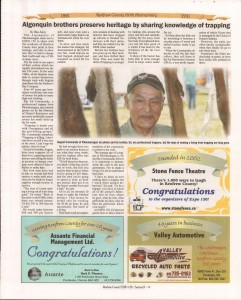 A Journey Through Time - Past, Present and Future. Published by The Eganville Leader, celebrating the 150th anniversary of Renfrew County. Page 39