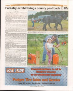 A Journey Through Time - Past, Present and Future. Published by The Eganville Leader, celebrating the 150th anniversary of Renfrew County. Page 27