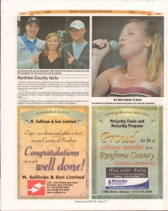 A Journey Through Time - Past, Present and Future. Published by The Eganville Leader, celebrating the 150th anniversary of Renfrew County. Page 30