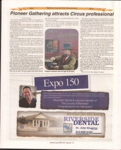 A Journey Through Time - Past, Present and Future. Published by The Eganville Leader, celebrating the 150th anniversary of Renfrew County. Page 31
