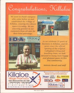 Killaloe Today, published in August of 2008 to commemorate the Town's 100th Birthday. Page 27