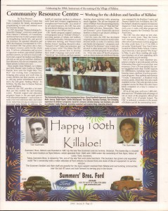 Killaloe Today, published in August of 2008 to commemorate the Town's 100th Birthday. Page 46