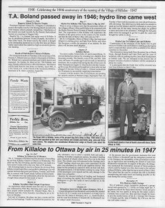 A trip down memory lane, produced by the Eganville Leader to commemorate Killaloe's centennial, in August 2008. Page 16