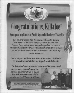 A trip down memory lane, produced by the Eganville Leader to commemorate Killaloe's centennial, in August 2008. Page 2